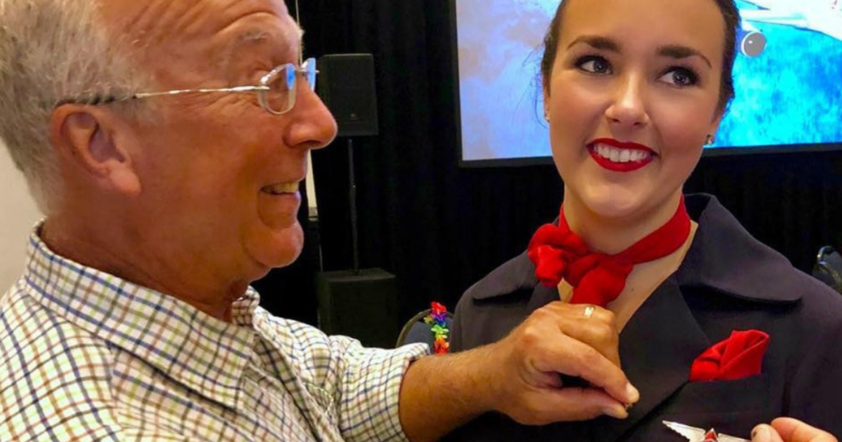 Папа на Рождество: отец стюардессы совершил шесть полетов ради дочери
