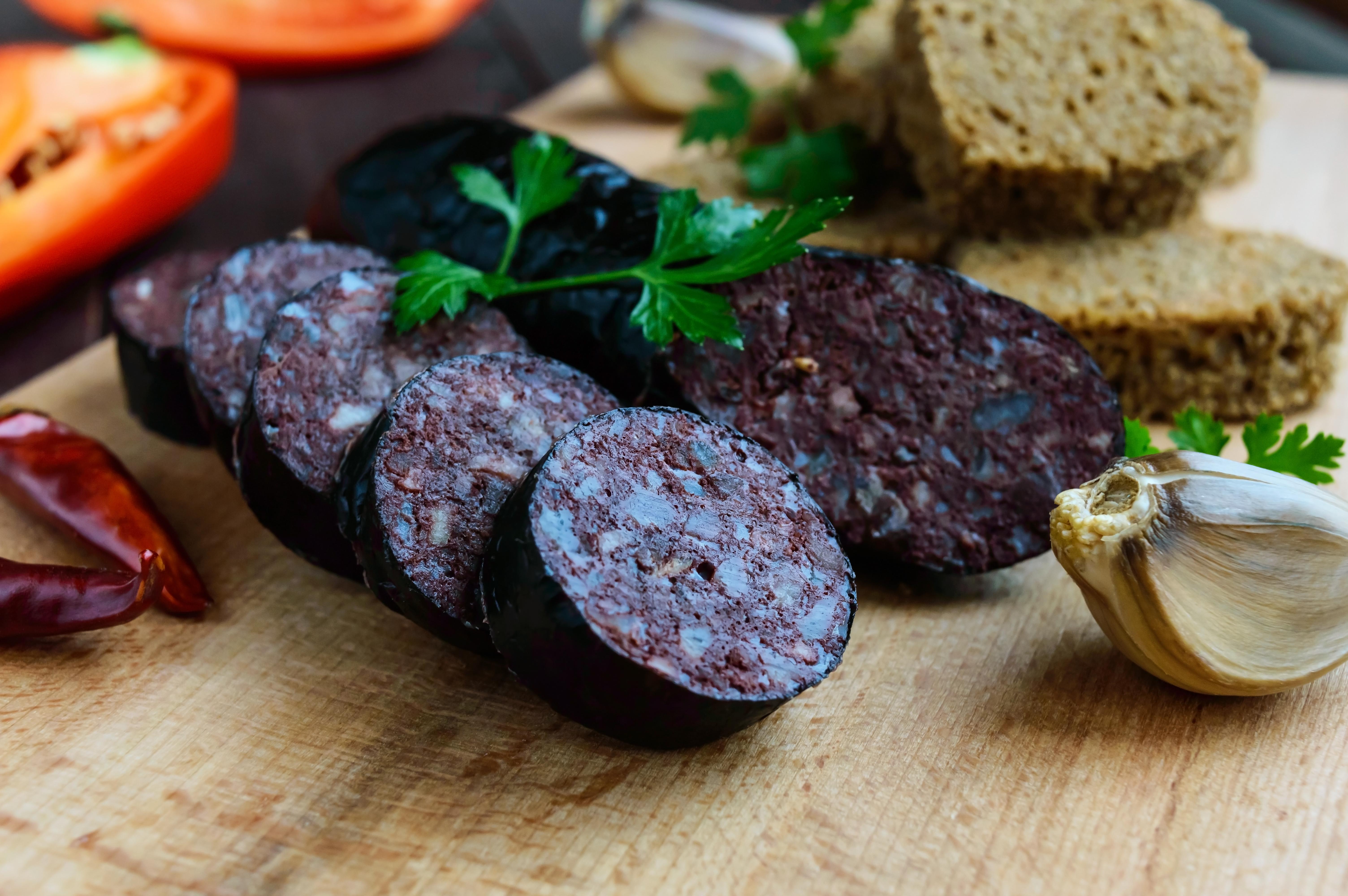 Домашняя кровяная колбаса
