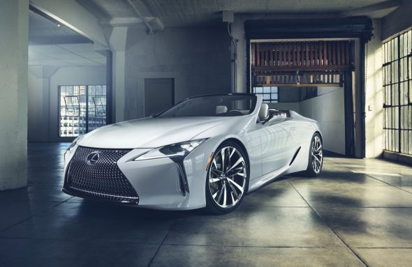 Photo of Lexus LC Convertible Concept drops roof for more drama