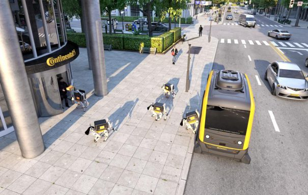 Photo of Continental looks to robot dogs to deliver your packages