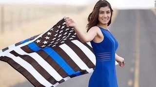Photo of Todd Starnes: UC Davis students protest photo of slain police officer holding Blue Lives Matter flag