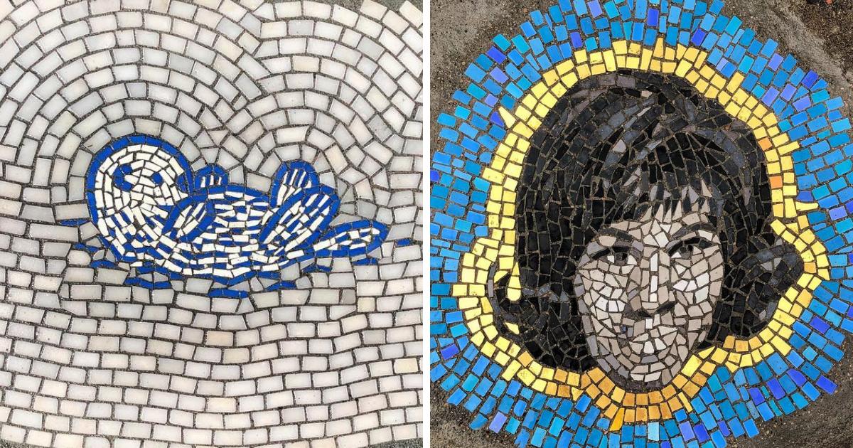Художник Джим Бачор превращает ямы и выбоины в произведения искусства