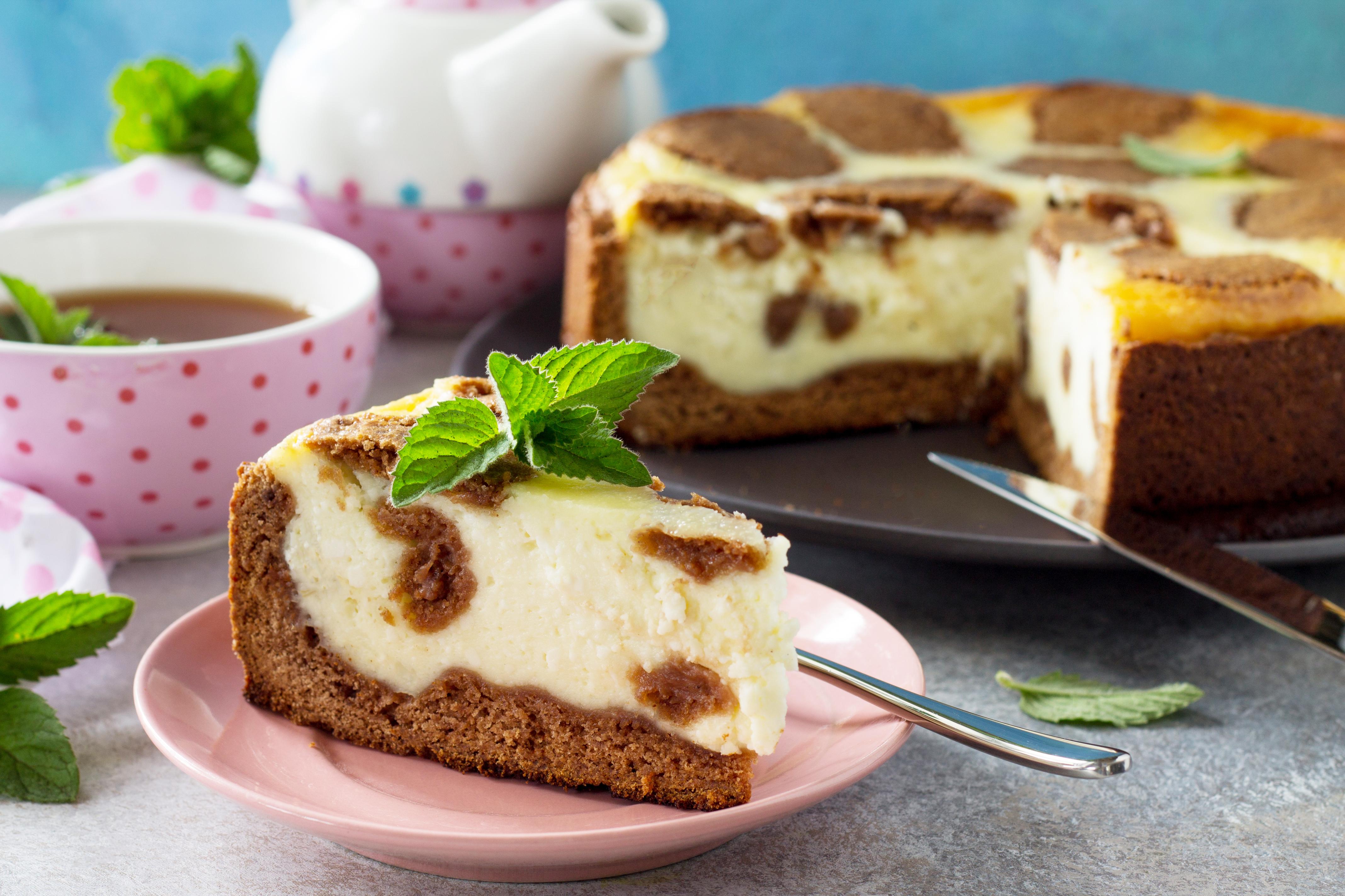 """Шоколадно-творожный пирог """"Жираф"""""""