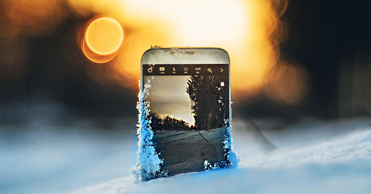 Фото Не дай замерзнуть! Как избежать отключения телефона на холоде