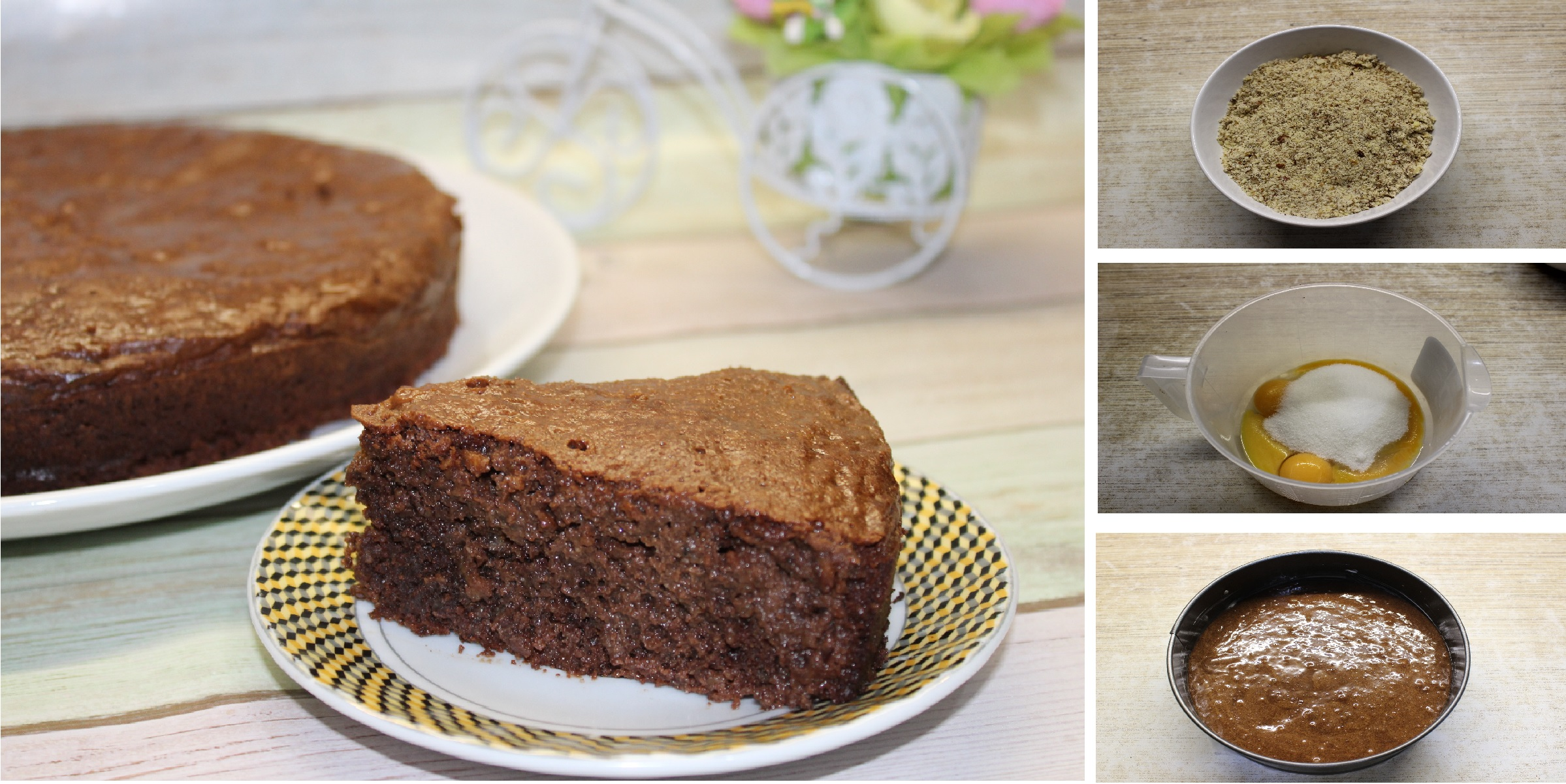 Шоколадно-ореховый торт с бренди: пошаговый фото рецепт