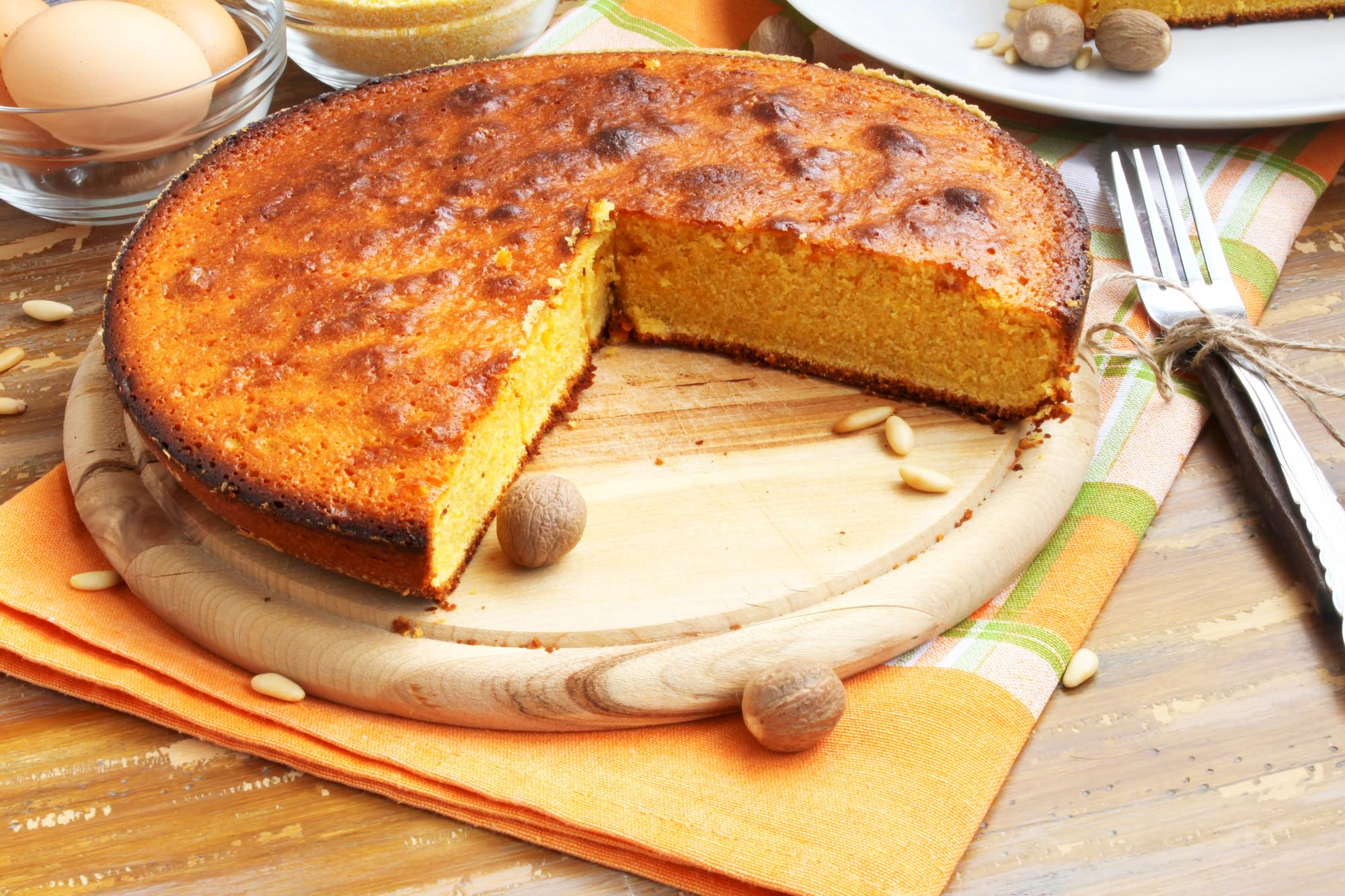 Пирог с кукурузной муки