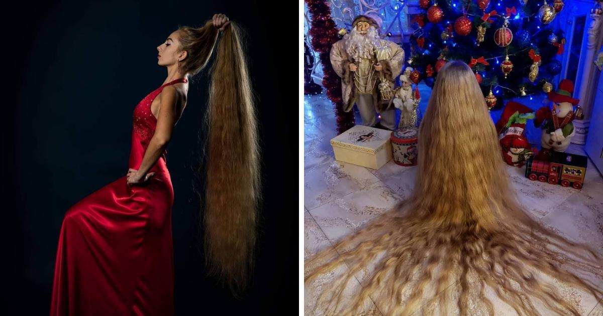 Рапунцель по-украински: девушка не стригла волосы 28 лет