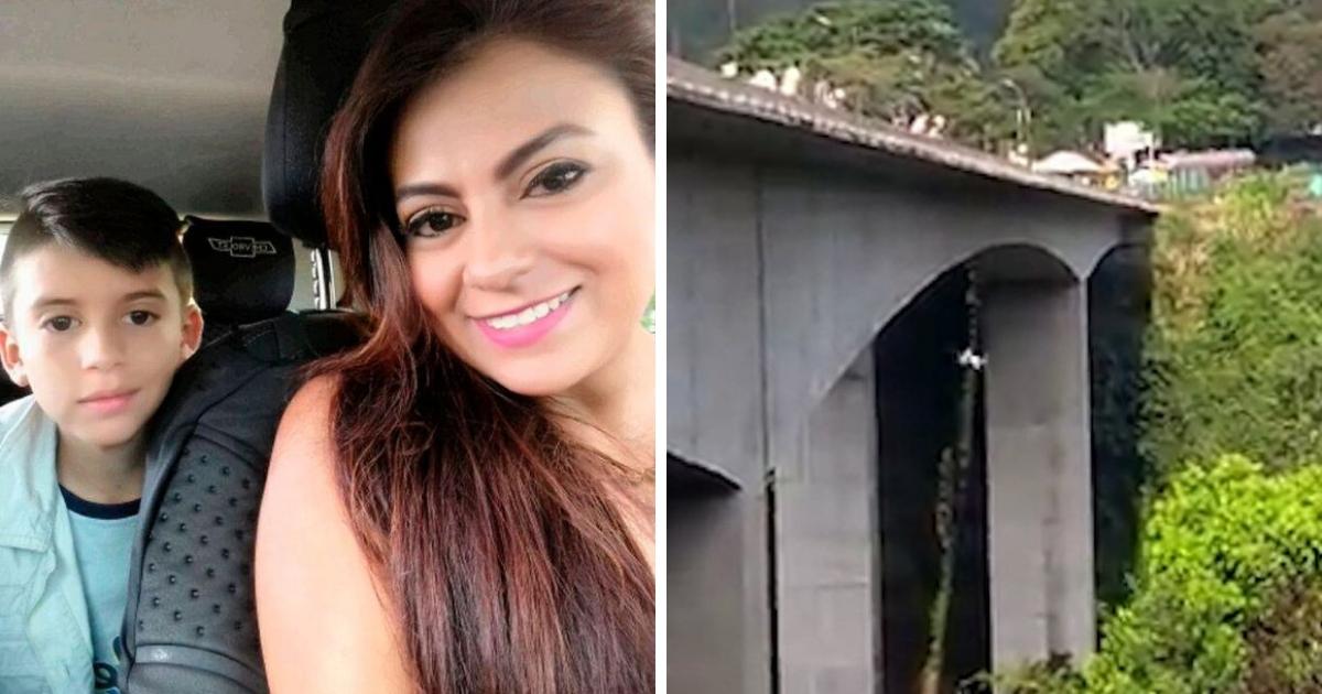 Женщина спрыгнула с моста вместе с сыном, когда стала бездомной