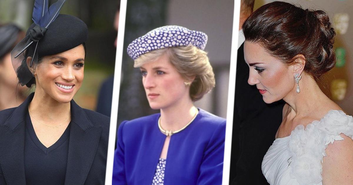 Наследие Дианы: какие украшения носят сегодня Кейт Миддлтон и Меган Маркл