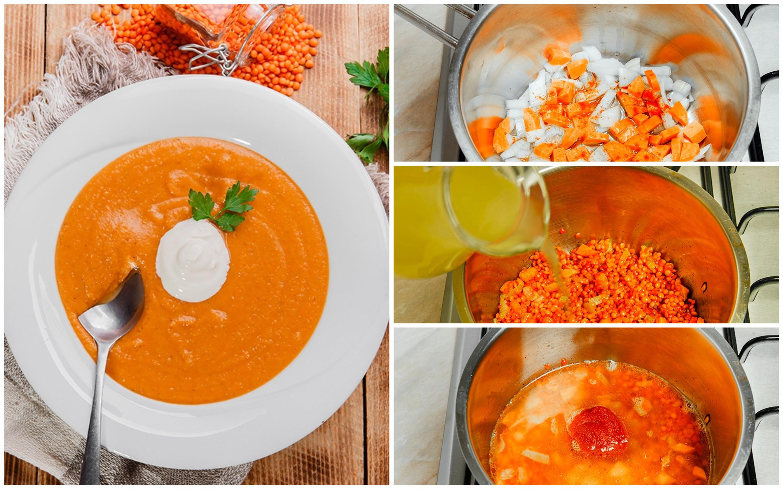 Суп-пюре из чечевицы: пошаговые фото