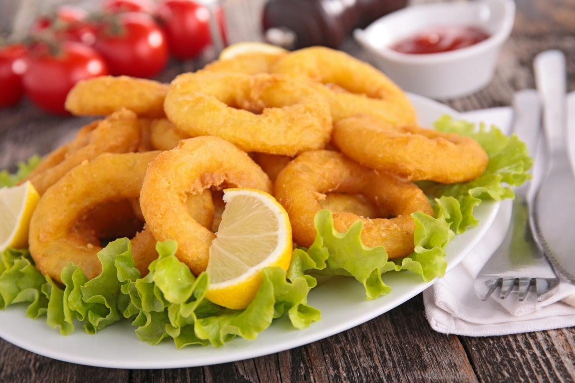 Аппетитные кальмары в кляре