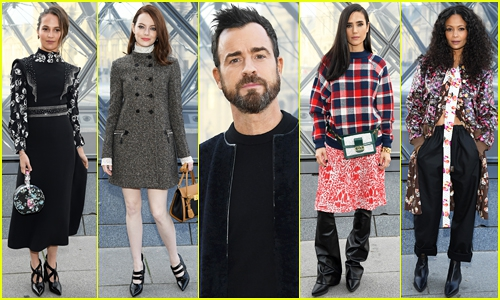 Photo of Alicia Vikander, Emma Stone, Justin Theroux & More Sit Front Row at Louis Vuitton Paris Show!