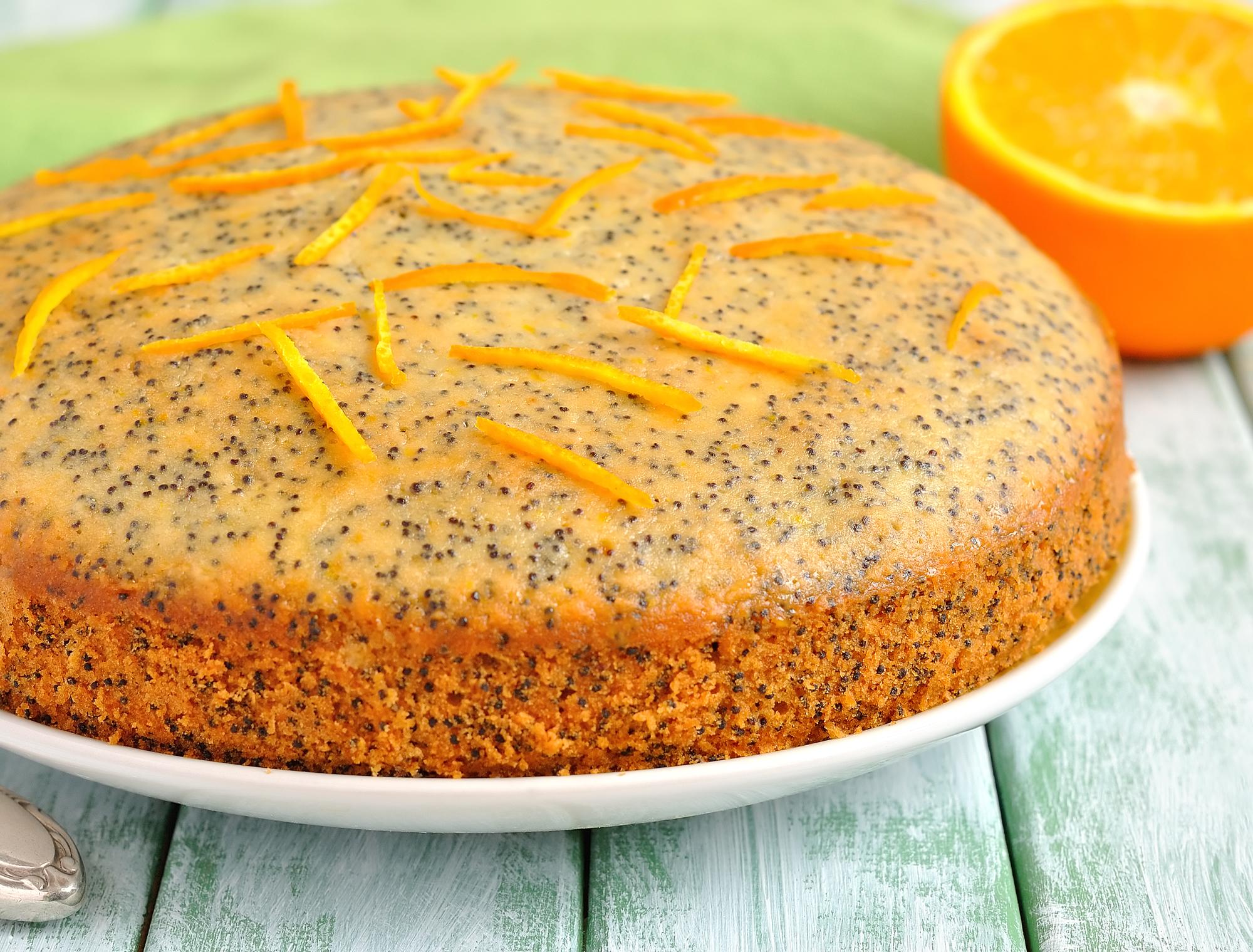 Пирог апельсиновый с маком