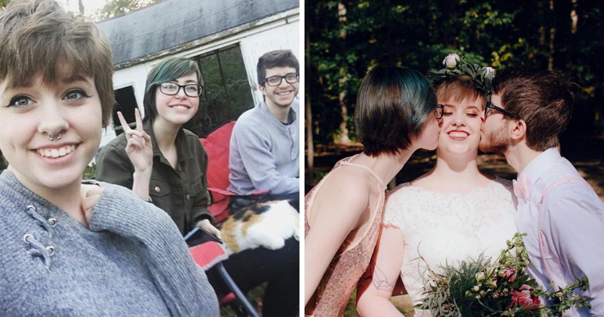 Любовь втроем: американка влюбилась в девушку прямо на своей свадьбе