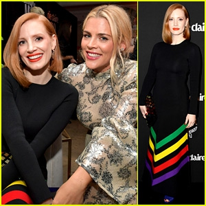 Photo of Jessica Chastain & Busy Philipps Hang Out Together at Marie Claire's Change Makers Event