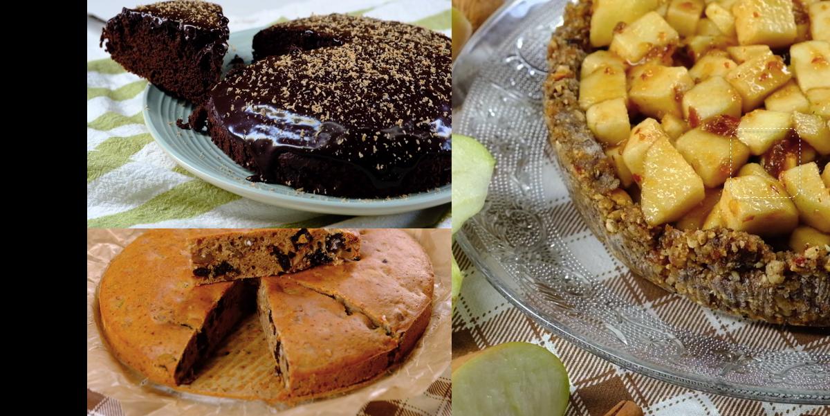 Фото Постные десерты (часть 1): кофейный пирог, шоколадный кекс, яблочный тарт (видео рецепты и пошаговые фото)