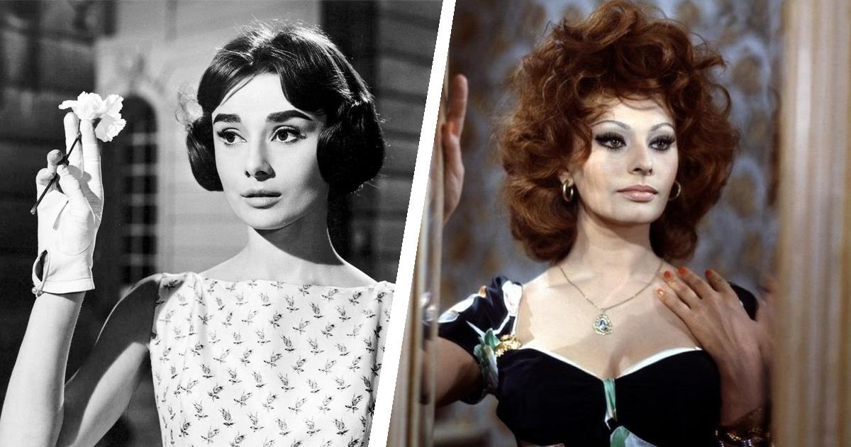 Фото Одри Хепберн и Софи Лорен: как годы повлияли на красавиц ХХ века