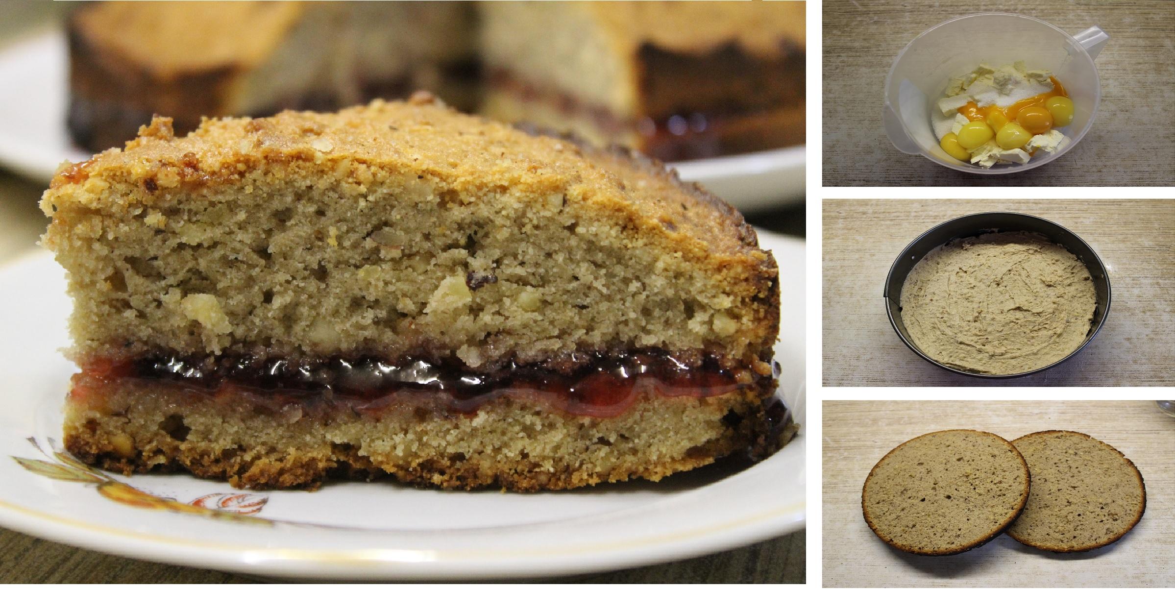 Гречневый пирог с клюквенным вареньем без пшеничной муки по немецкому рецепту: пошаговый фото рецепт