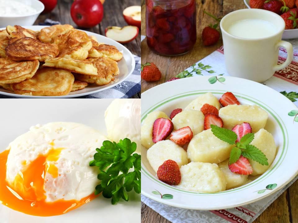 3 рецепта вкусных завтраков