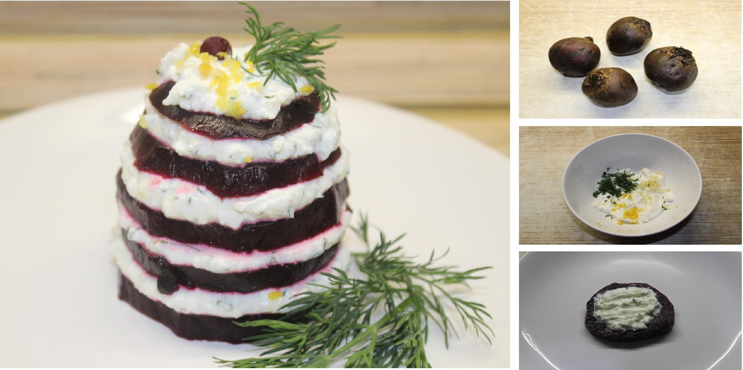 Легкая закуска из свеклы с творожным сыром: пошаговый фото рецепт