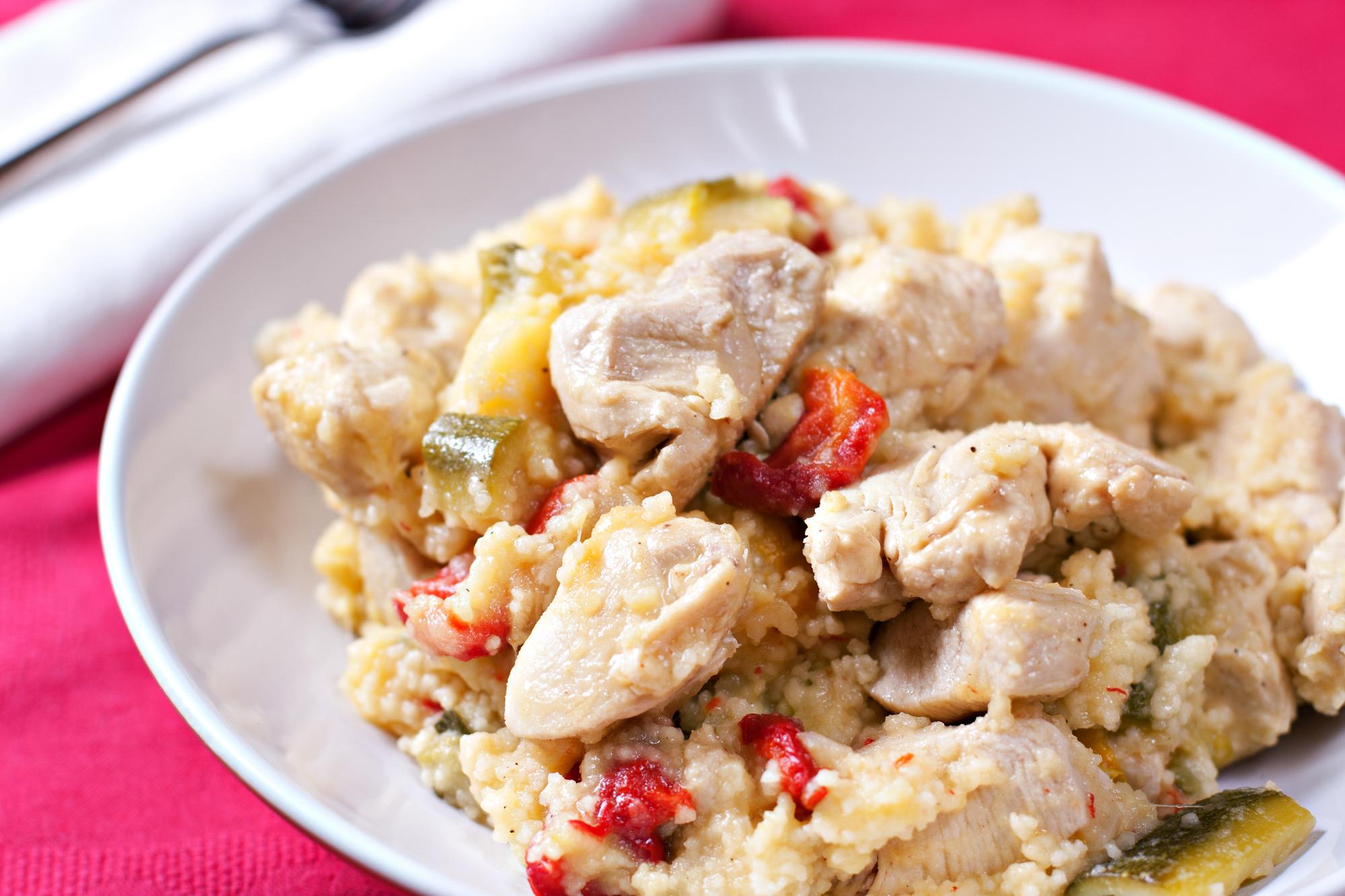 Кус кус с курицей и овощами