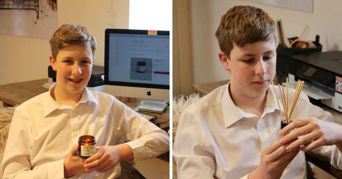 Бизнес из спальни: 14-летний британец зарабатывает тысячи фунтов на свечах