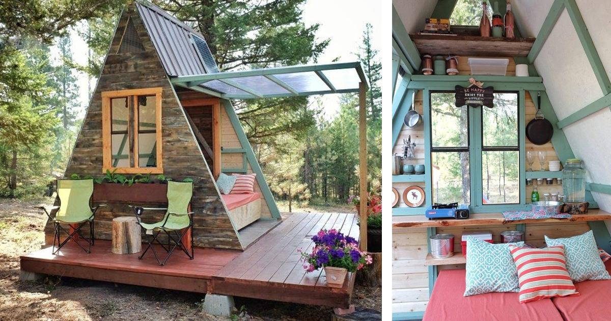 Рай в шалаше: пара построила дом на 7,5 квадратных метров
