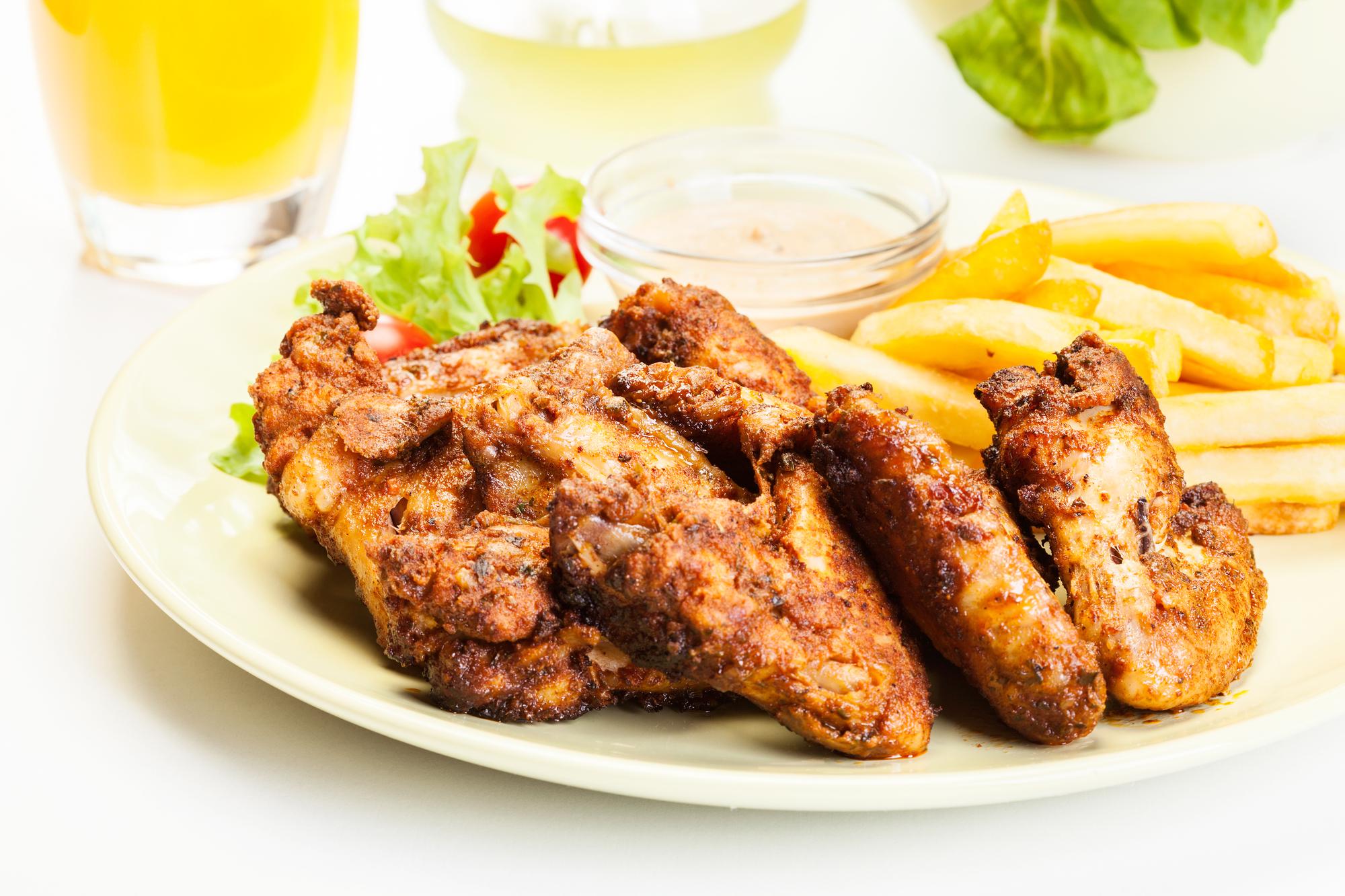 Куриные крылышки в горчично-соевом соусе