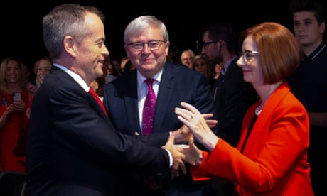 Photo of Former PMs bury the hatchet in show of unity at Labor campaign launch | Katharine Murphy