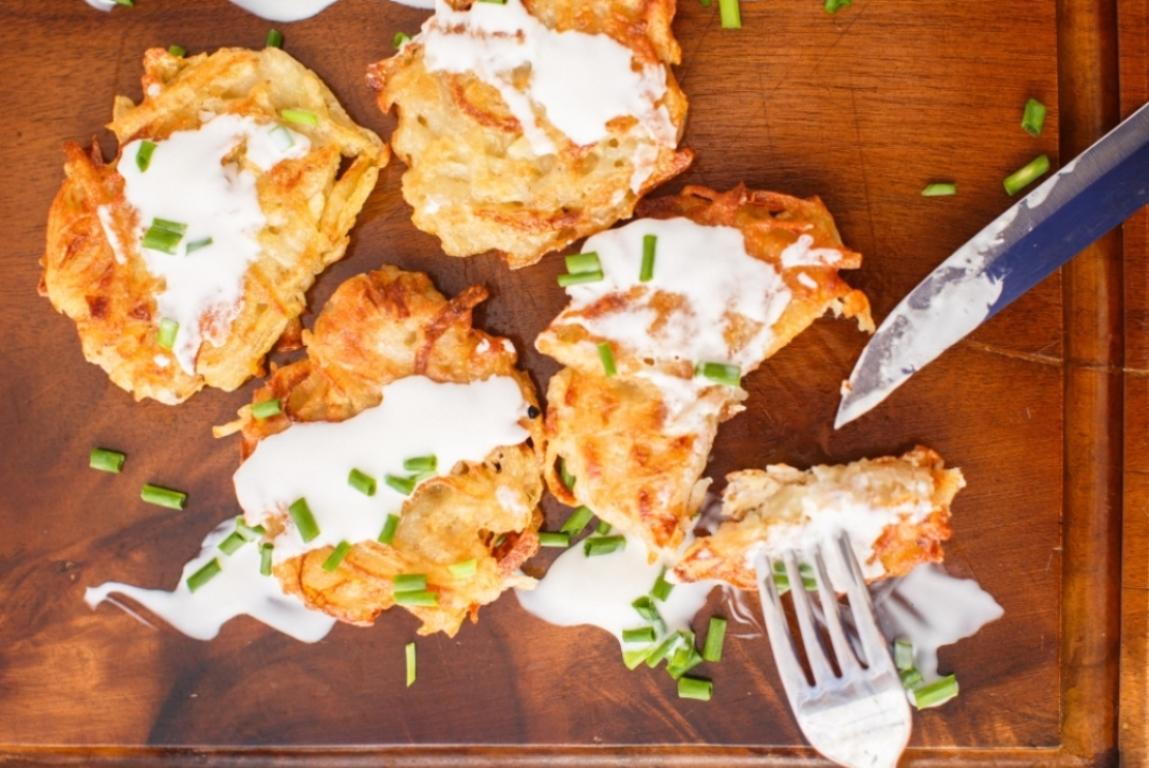 Аппетитные картофельные драники с сыром