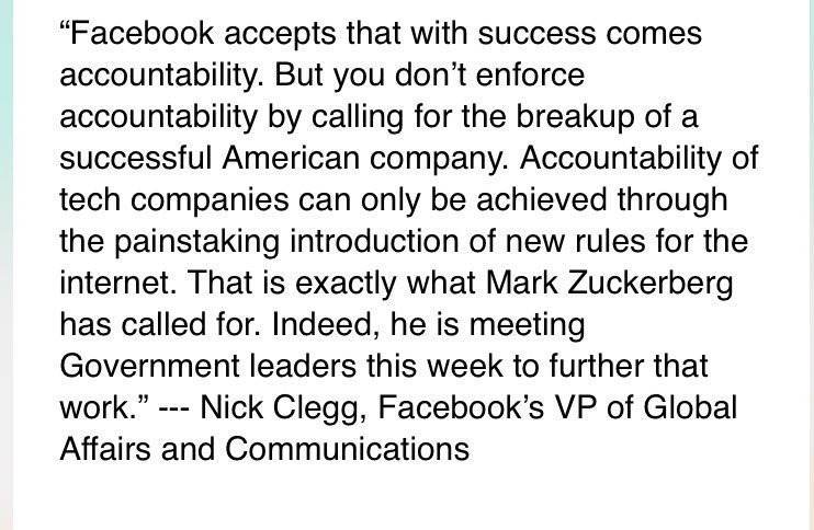 Photo of Facebook sends Nick Clegg to rebut co-founder Chris Hughes' call for breakup
