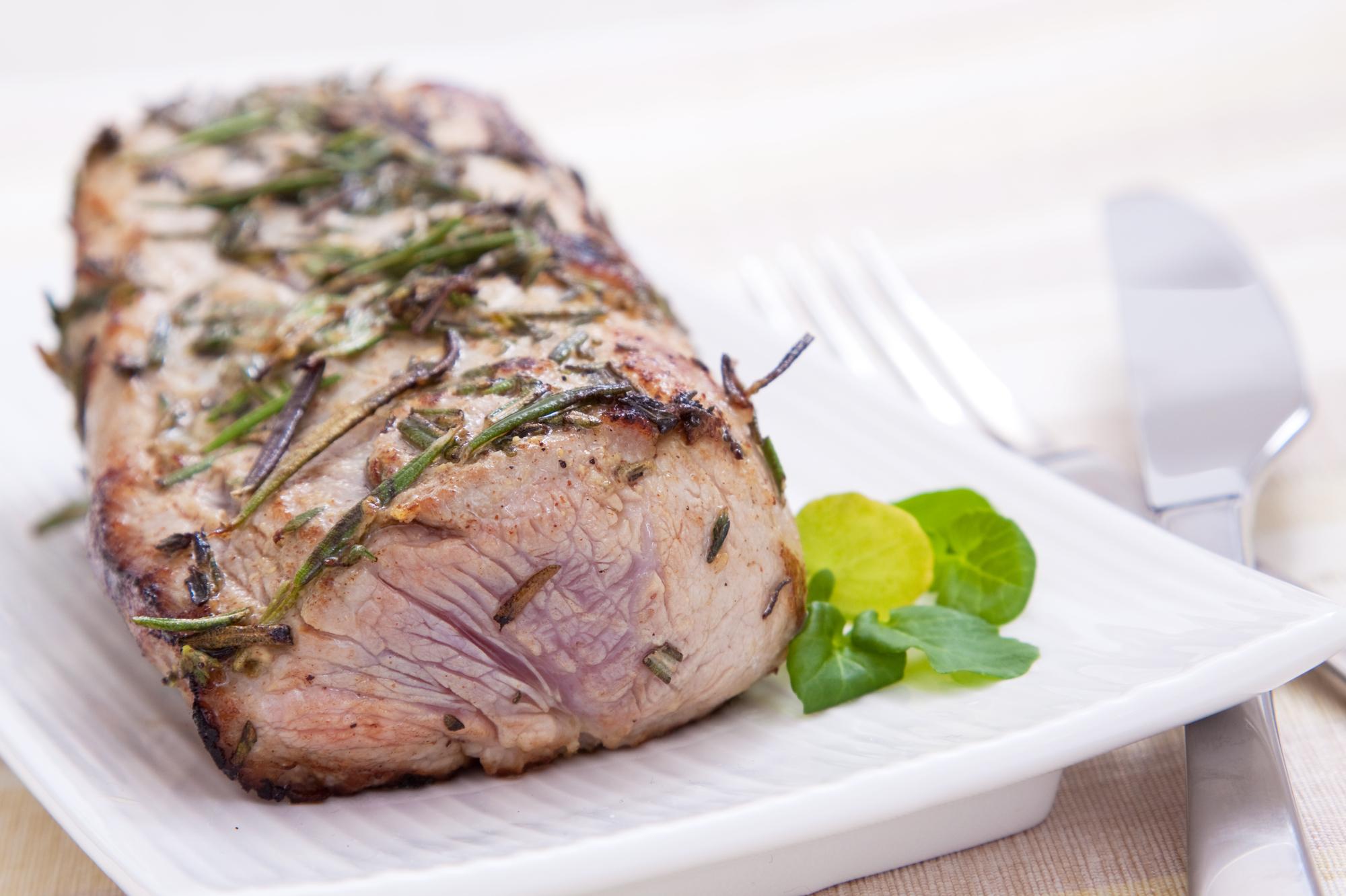 Запеченная свинина в горчичном соусе со специями