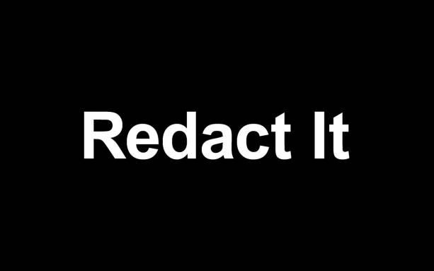 Photo of Redact It has me thinking anti-spoiler social network
