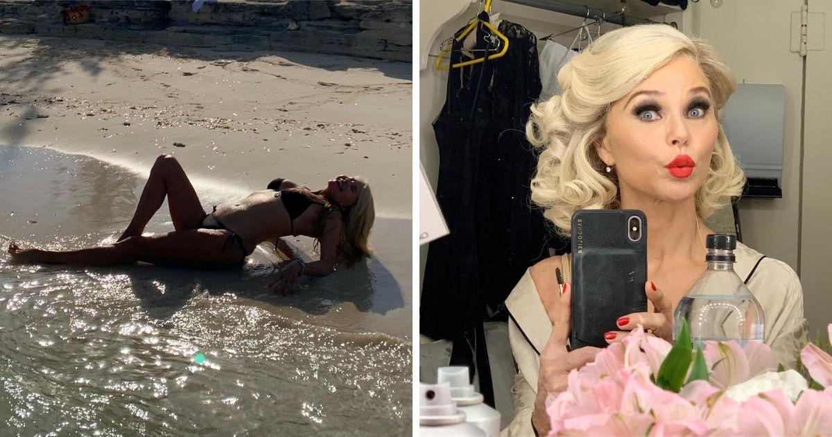 65-летняя модель продемонстрировала шикарную фигуру в купальнике