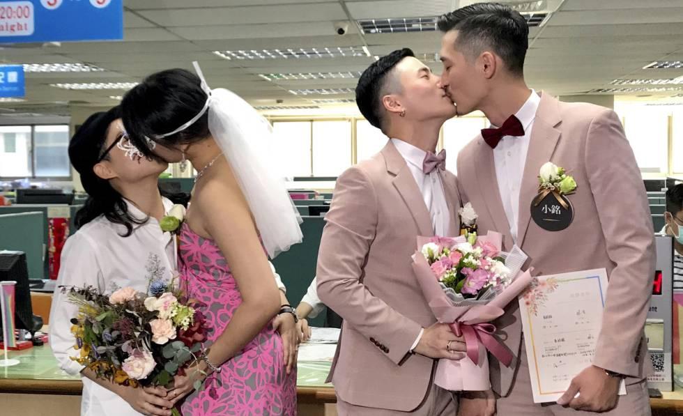 """Photo of Taiwán celebra las primeras bodas homosexuales: """"Ser gay no ha sido fácil"""""""