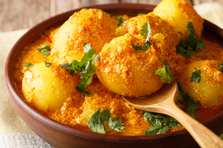 Картофель в соусе карри
