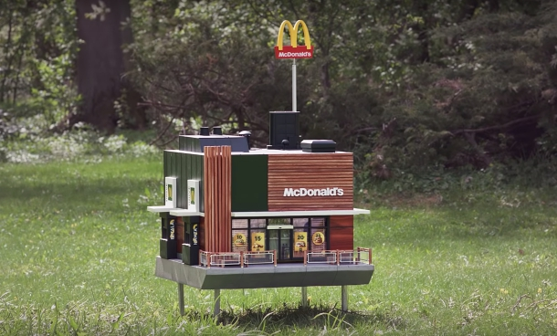Photo of The world's smallest McDonald's just opened, but only bees are invited