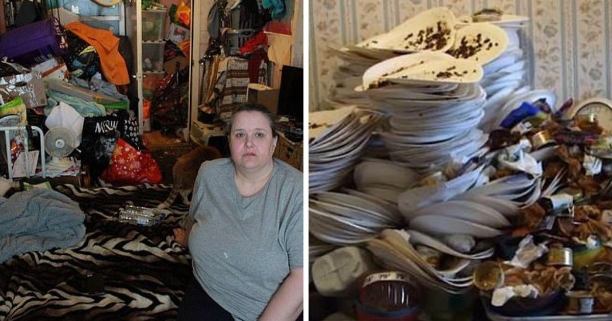 Полный дом мусора: британка-барахольщица превратила свою квартиру в помойку
