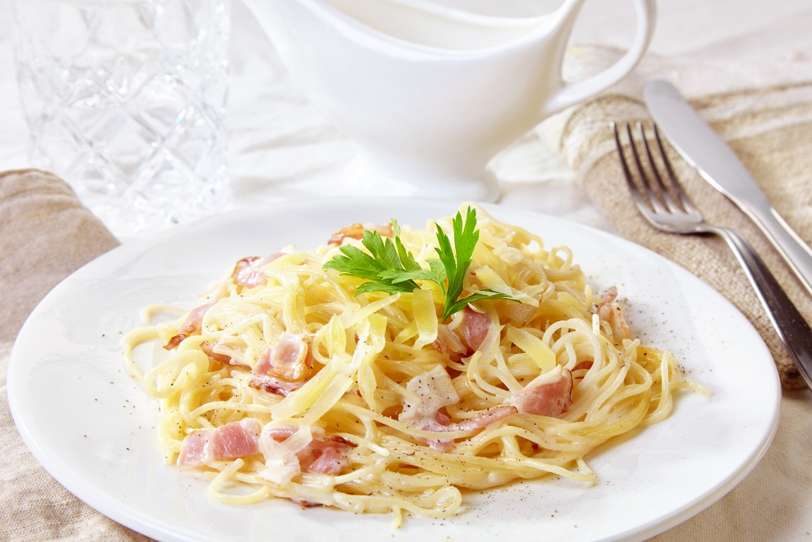 Аппетитная паста карбонара