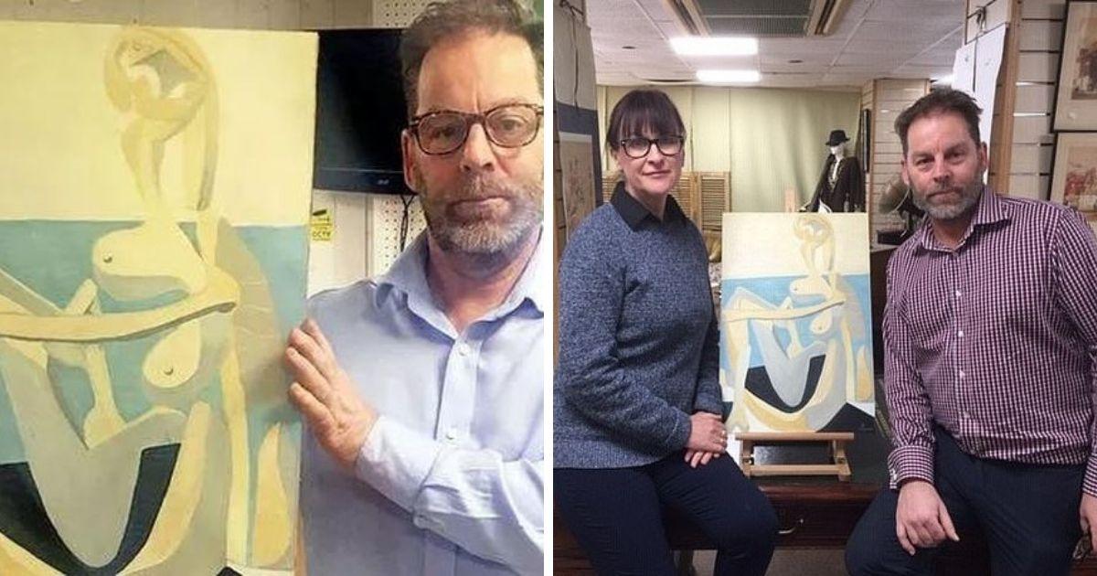 Британец купил раму, а оказалось, что картина внутри нее - работа Пикассо