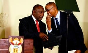 South Africa's president unveils leaner government