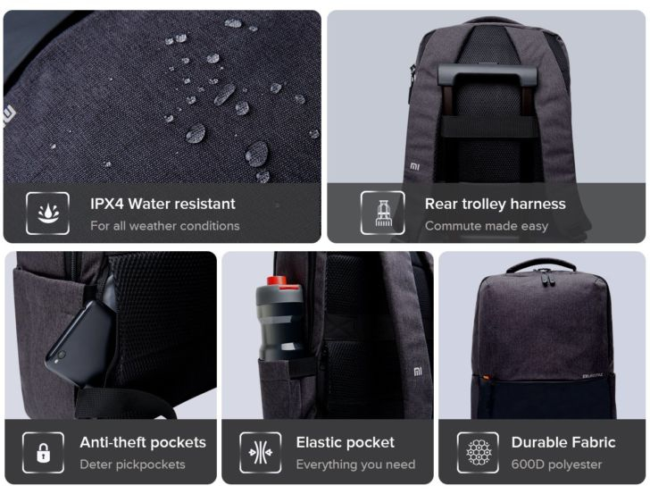 Фото Mi Business Casual Backpack – влагозащищенный рюкзак всего за $15
