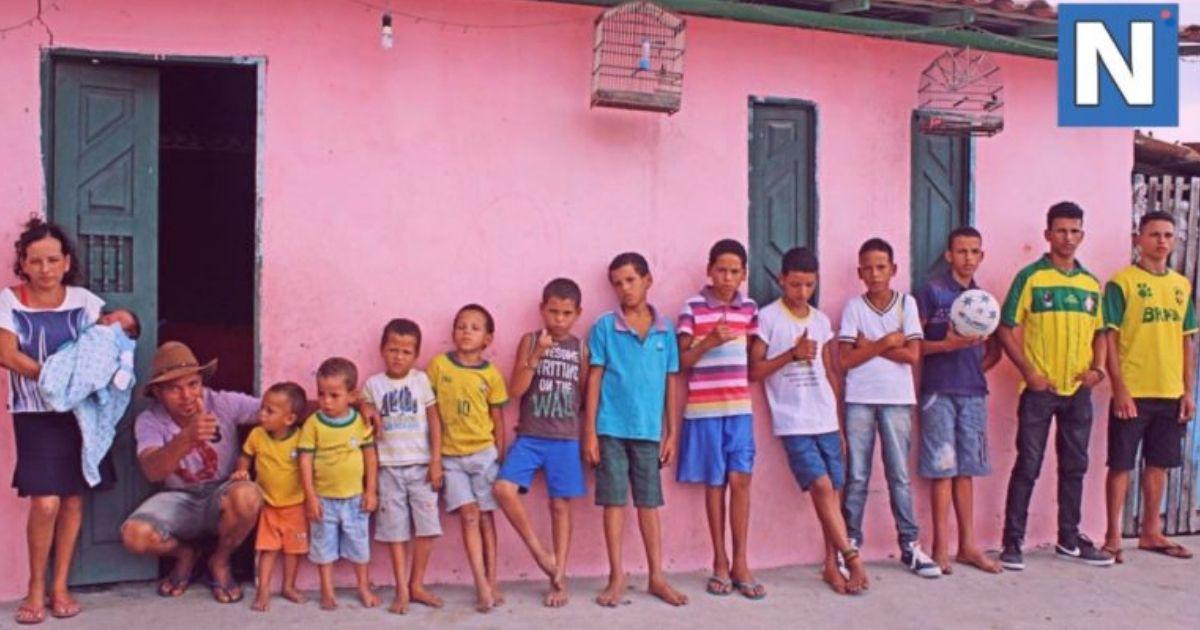 Любовь из Бразилии: мать 13 сыновей пообещала рожать, пока не появится дочь