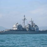 Russian and U.S. Navy Ships Narrowly Avoid Collision in Philippine Sea