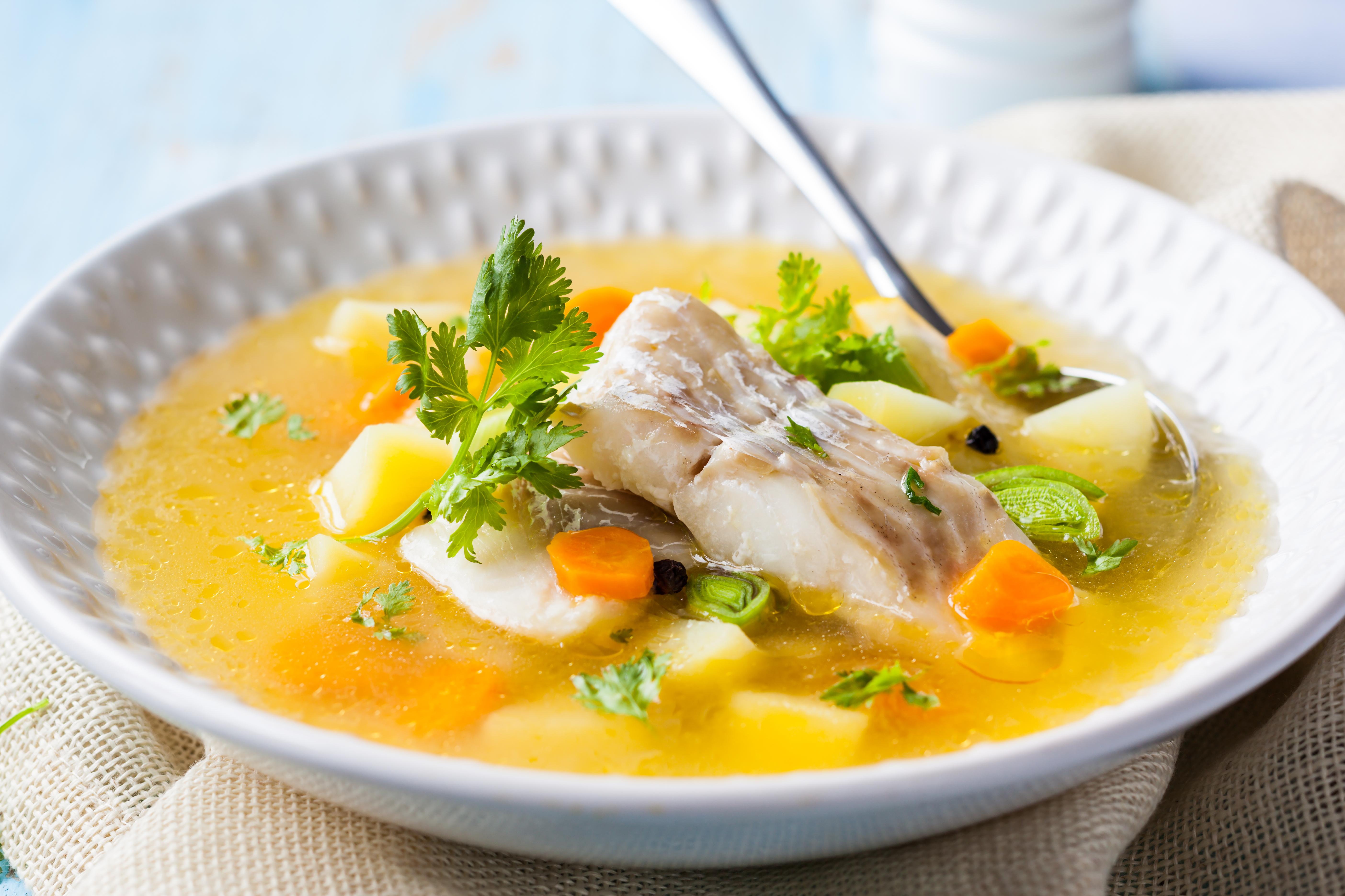 Рыбный суп с сельдереем