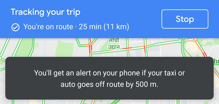 Photo of Google Maps keeps you safe by alerting you if your taxi goes off-route