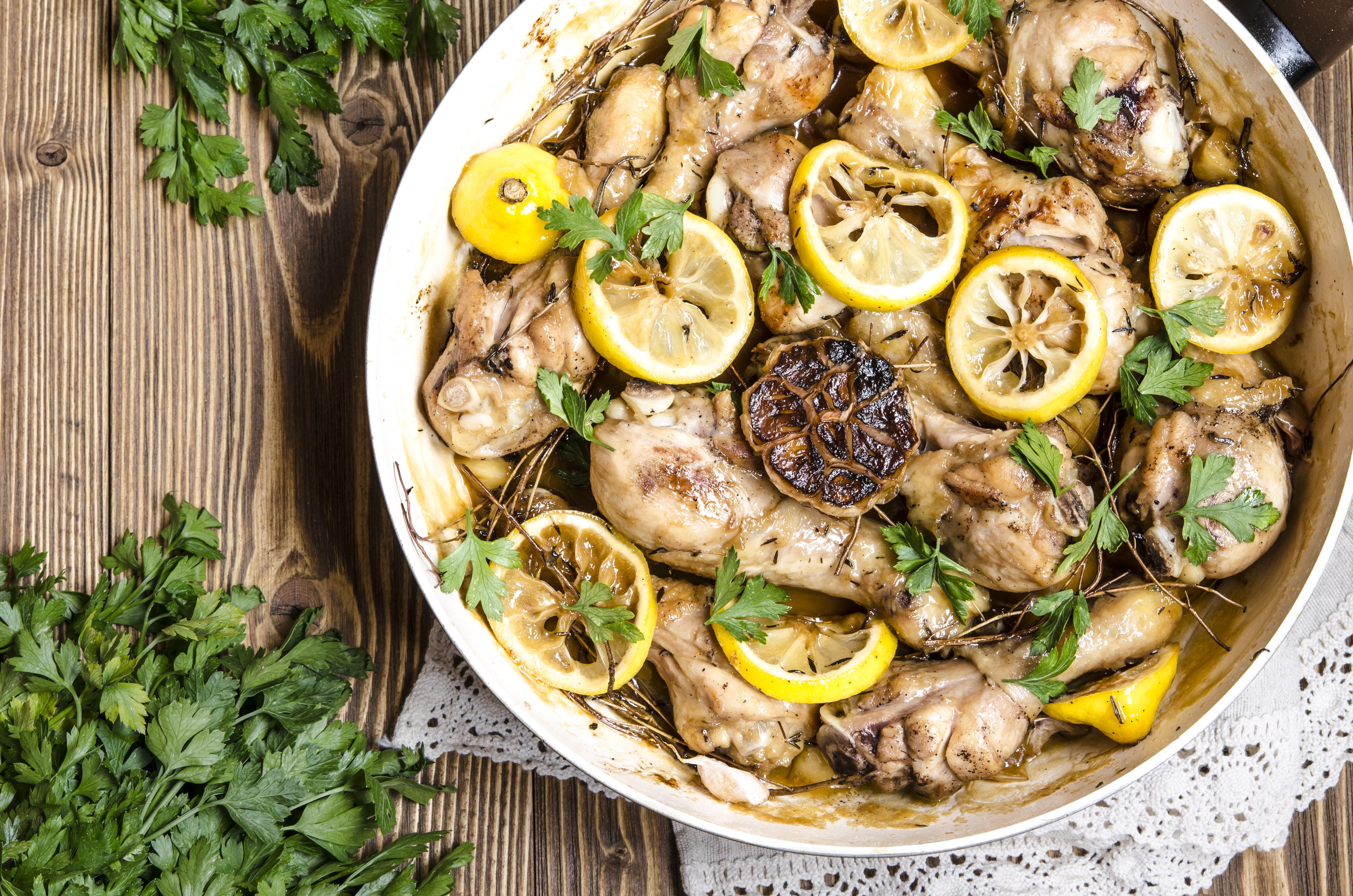Курица с лимоном и мёдом по рецепту Гордона Рамзи