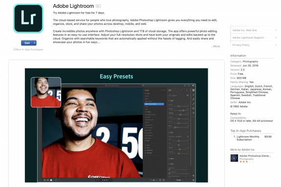 Photo of Adobe bites the bullet and puts Lightroom in the Mac App Store