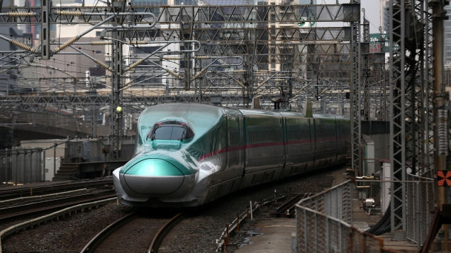 Photo of Japanese High-Speed Rail Line Was Brought to Standstill by Tiny Slug That Fried on Power Cable