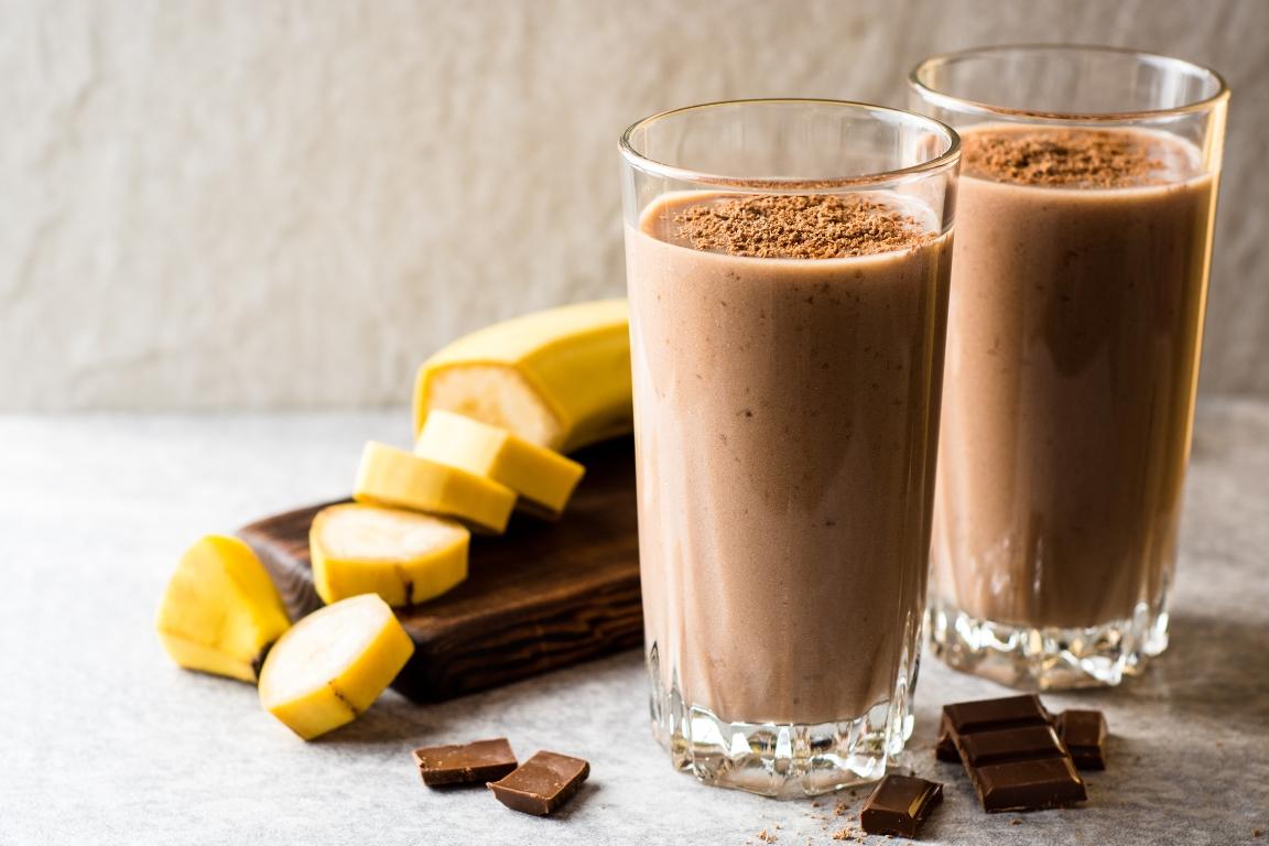 Вкуснейший шоколадно-банановый смузи